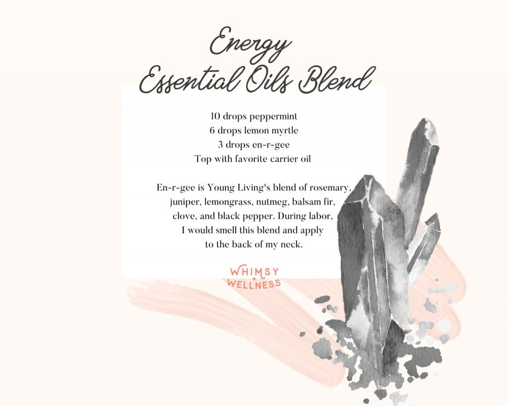 energy essential oil blend for labor, delivery, and postapartum