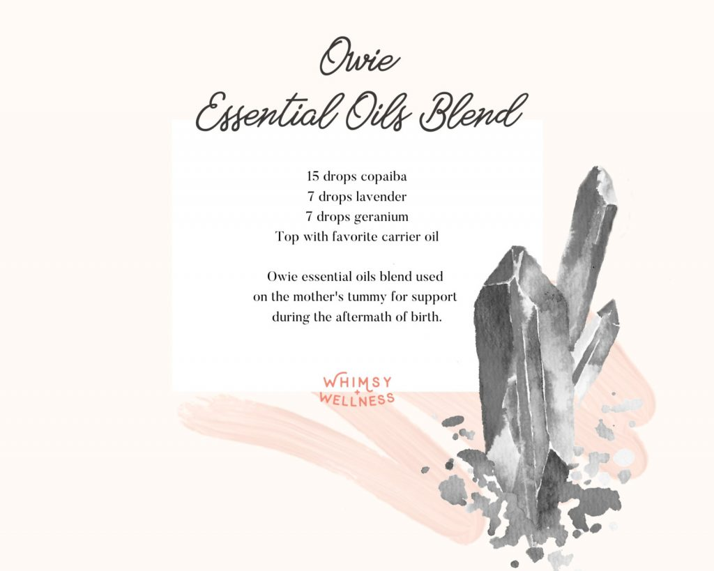 owie essential oil roller bottle blend for labor and delivery