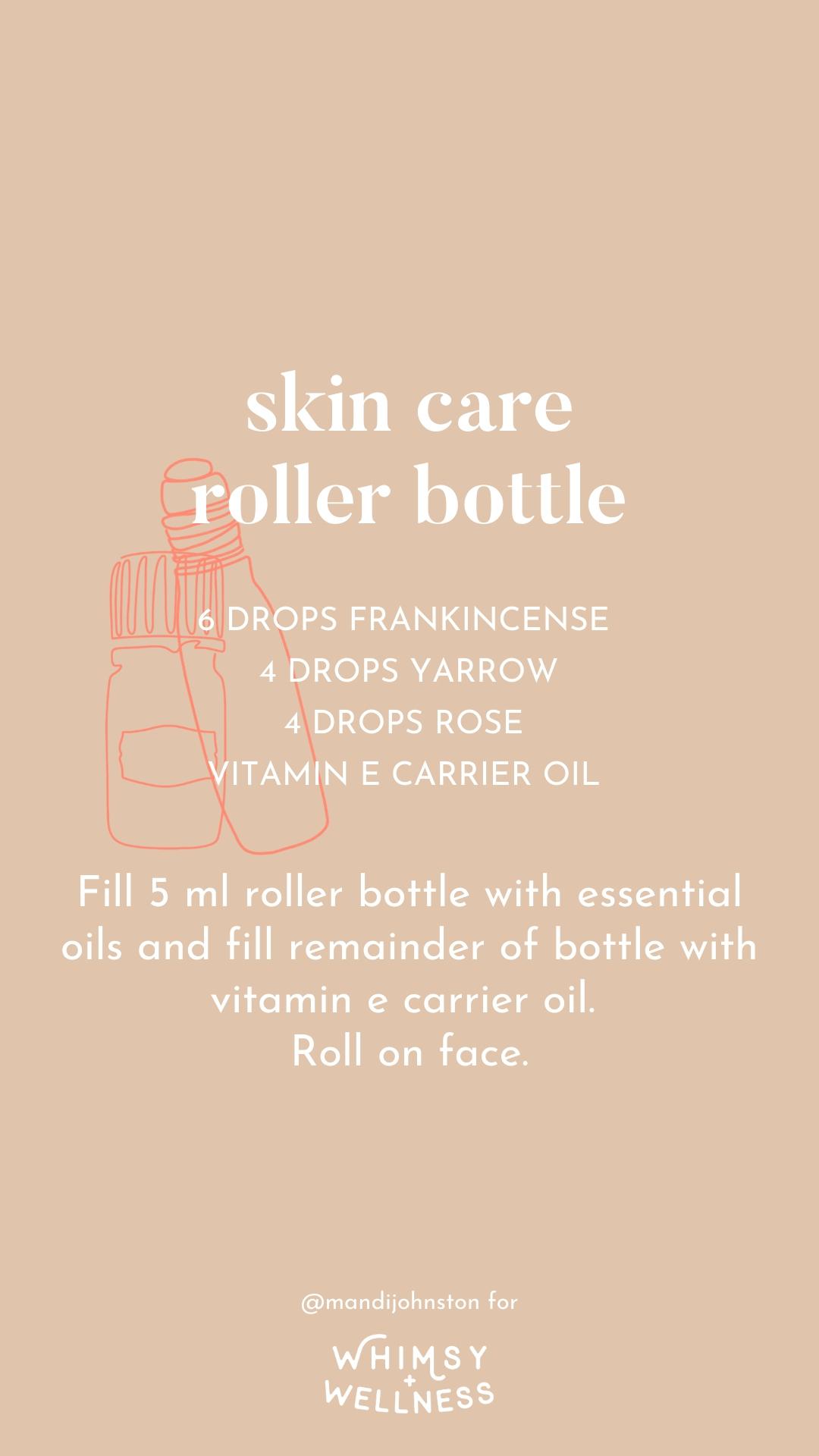 skin care roller bottle mandi johnston doterra whimsy + wellness