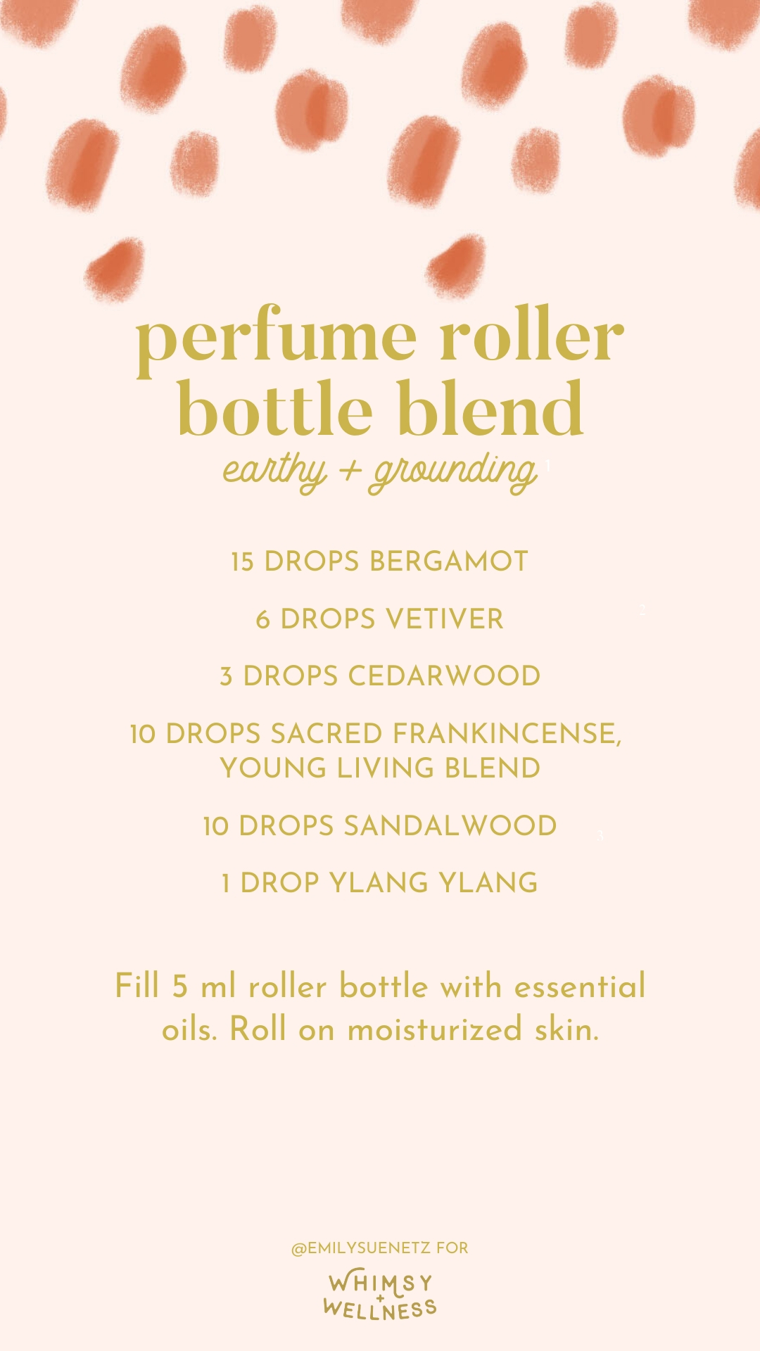 perfume roller bottle blend for winter germs with young living essential oils Emily Sue Netz for Whimsy and Wellness