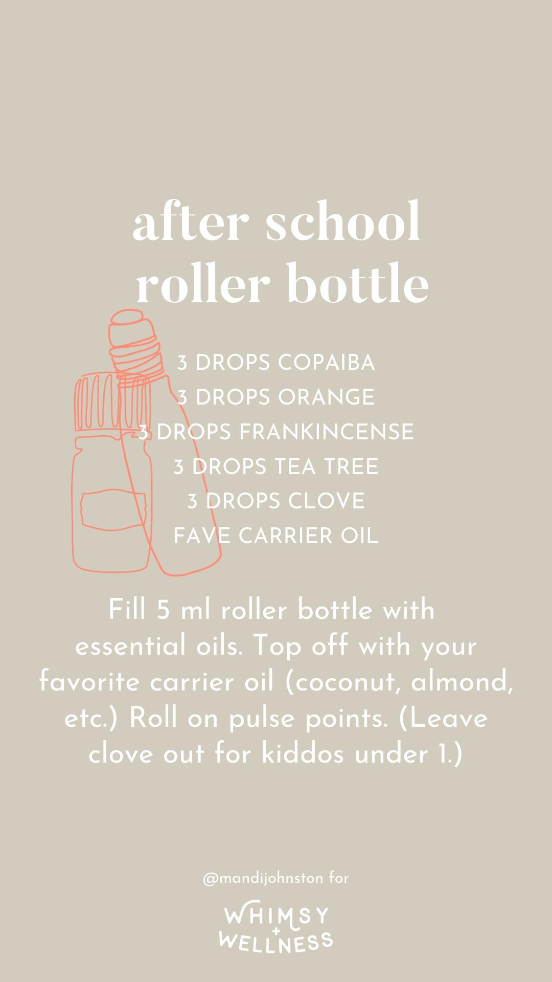 after school essential oil roller bottle mandi johnston doterra whimsy + wellness