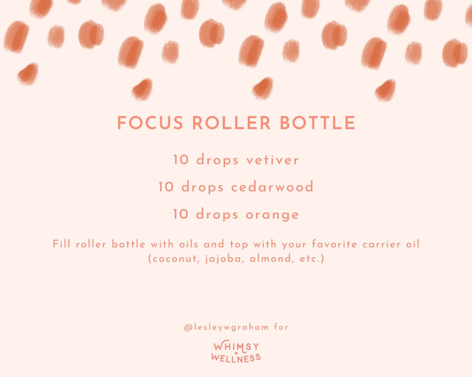 Focus Roller Bottle Blend Lesley W Graham Young Living Crown Diamond Whimsy + Wellness