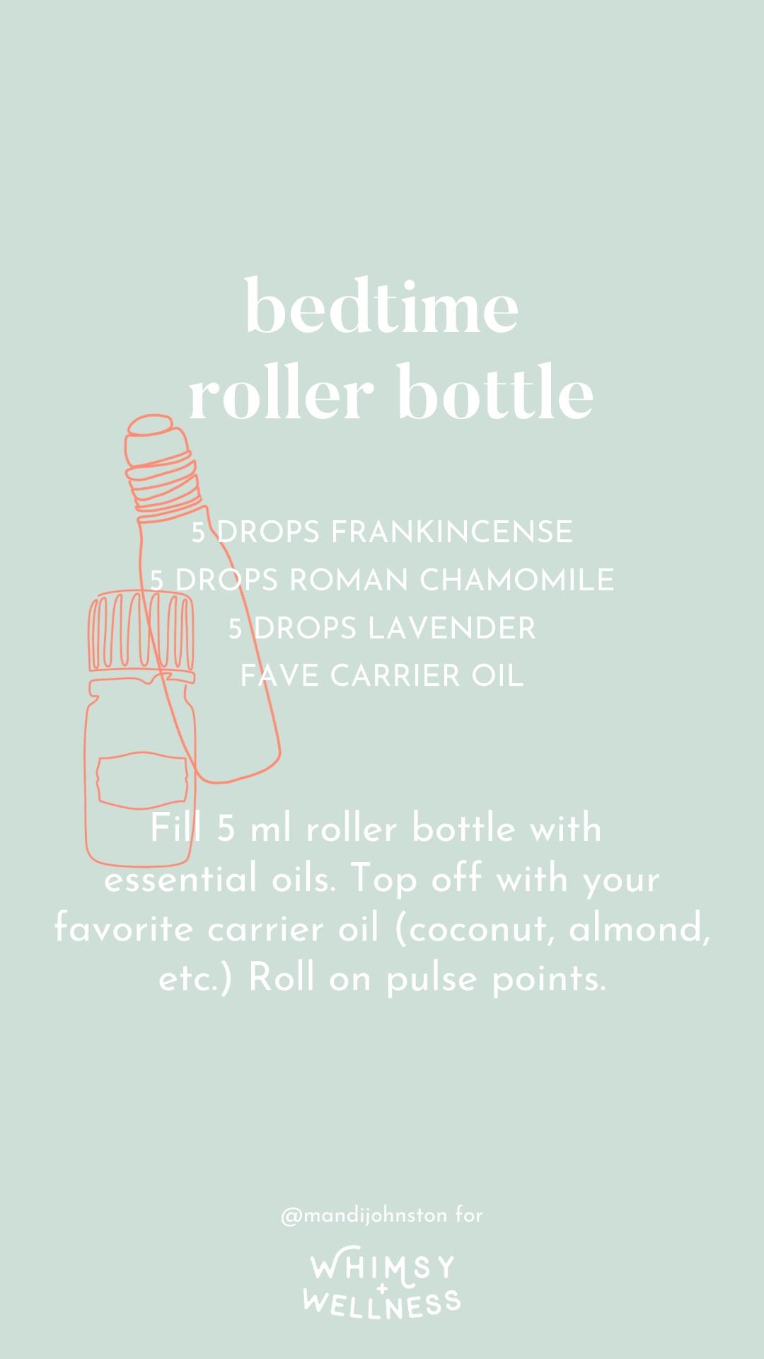 bedtime essential oil roller bottle mandi johnston doterra whimsy + wellness