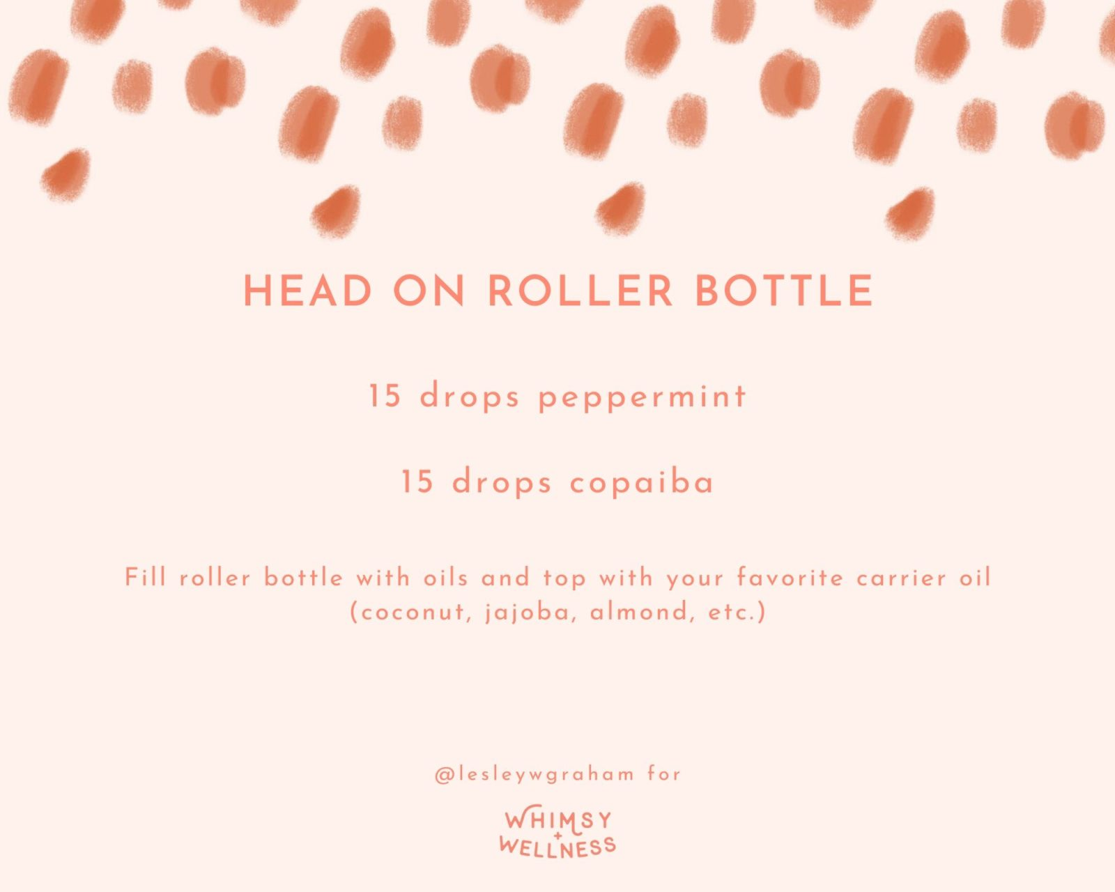 Head On Roller Bottle Blend Lesley W Graham Young Living Crown Diamond Whimsy + Wellness