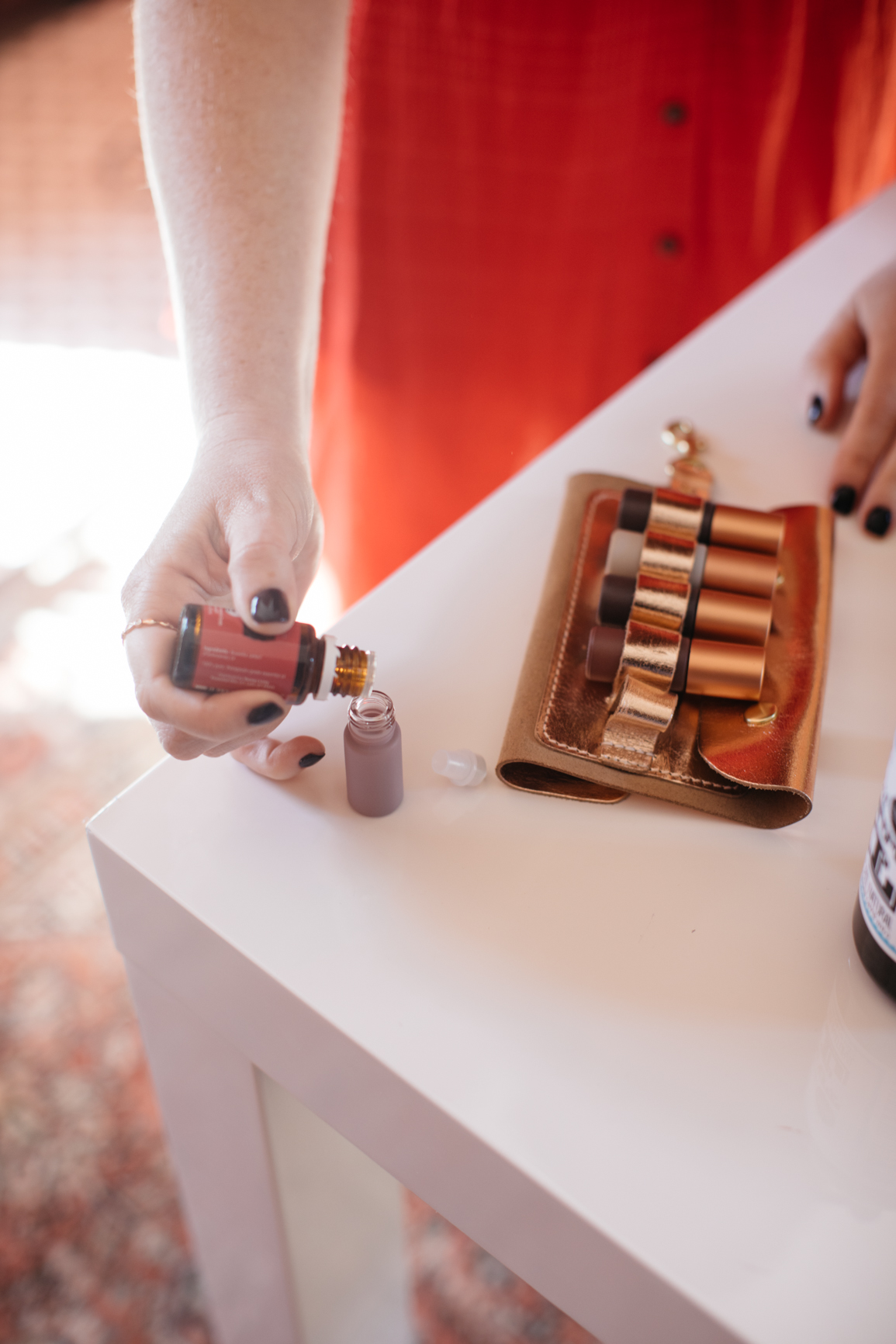 a day in the life of a lesley graham roller bottle | whimsy + wellness dunes collection young living oils