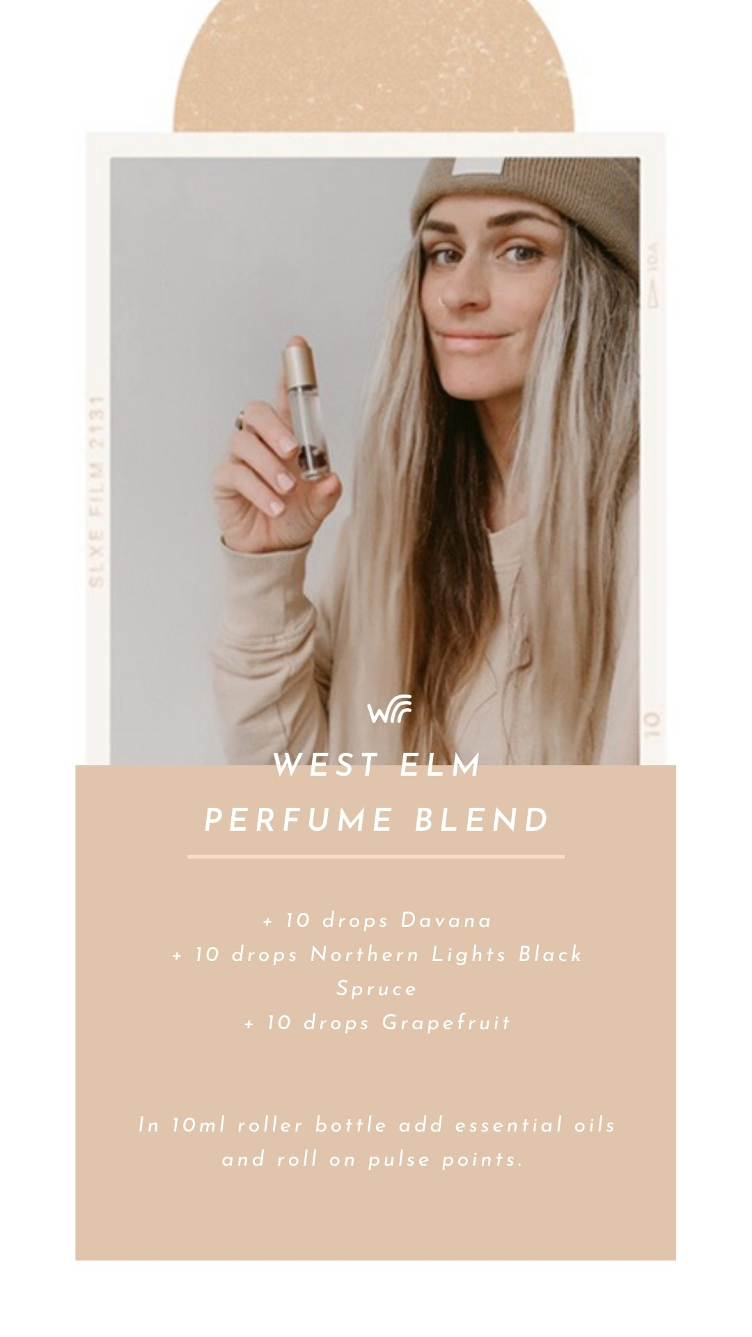 West Elm Perfume Essential Oil Blend For Crystal Roller Bottle Whimsy + Wellness