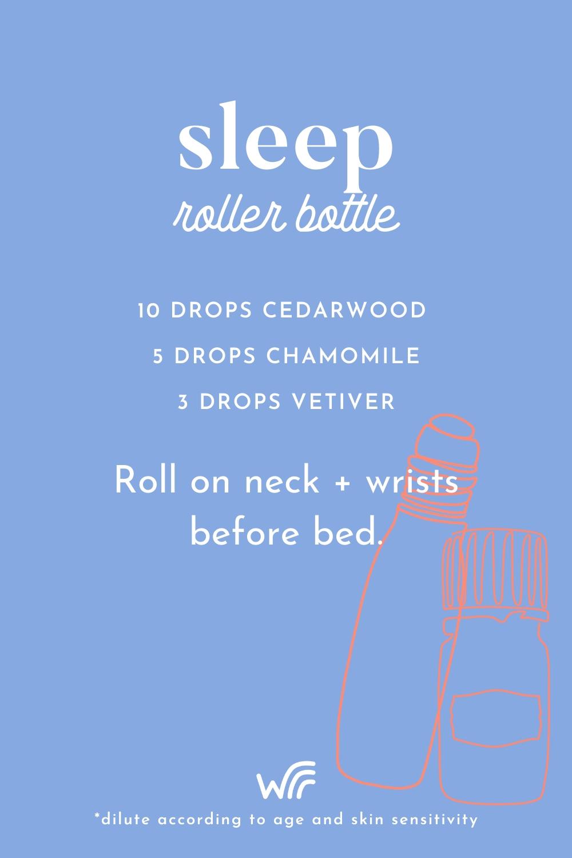 sleep essential oil roller bottle blend whimsy + wellness