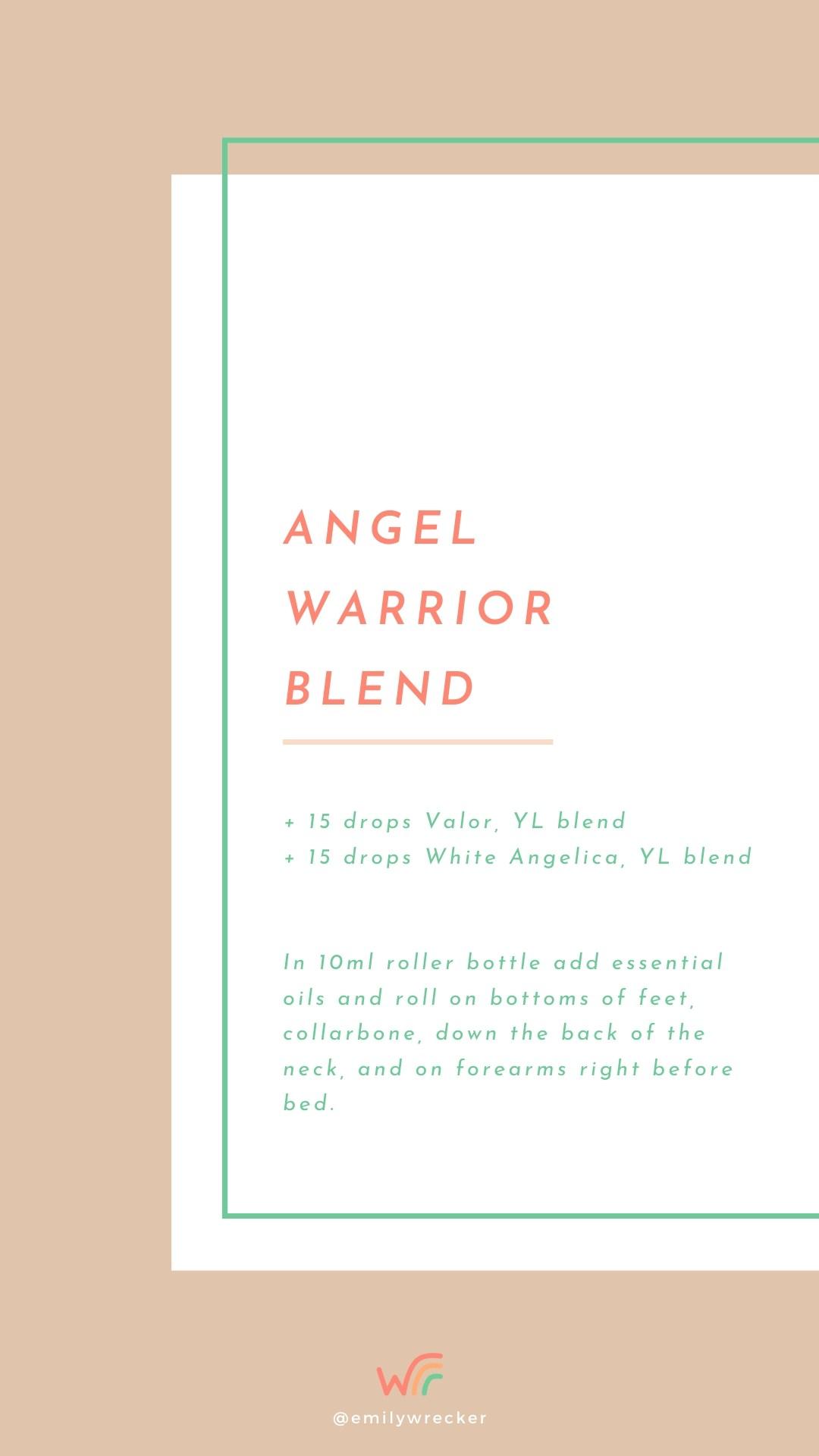 Angel Warrior Essential Oil Blend For Crystal Roller Bottle Whimsy + Wellness