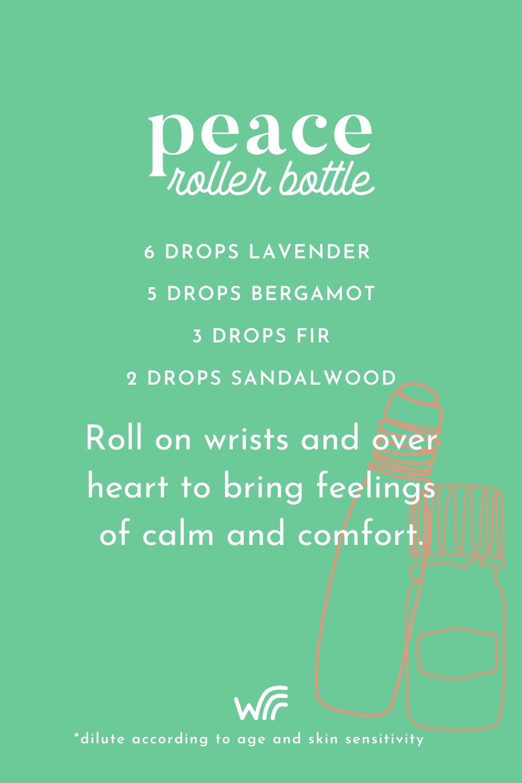 peace essential oil roller bottle blend whimsy + wellness