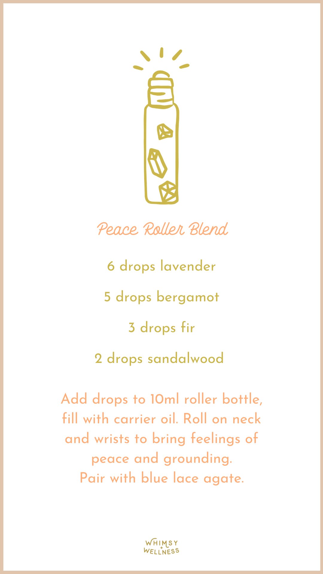 peace essential oils roller bottle blend to help support a friend through miscarriage