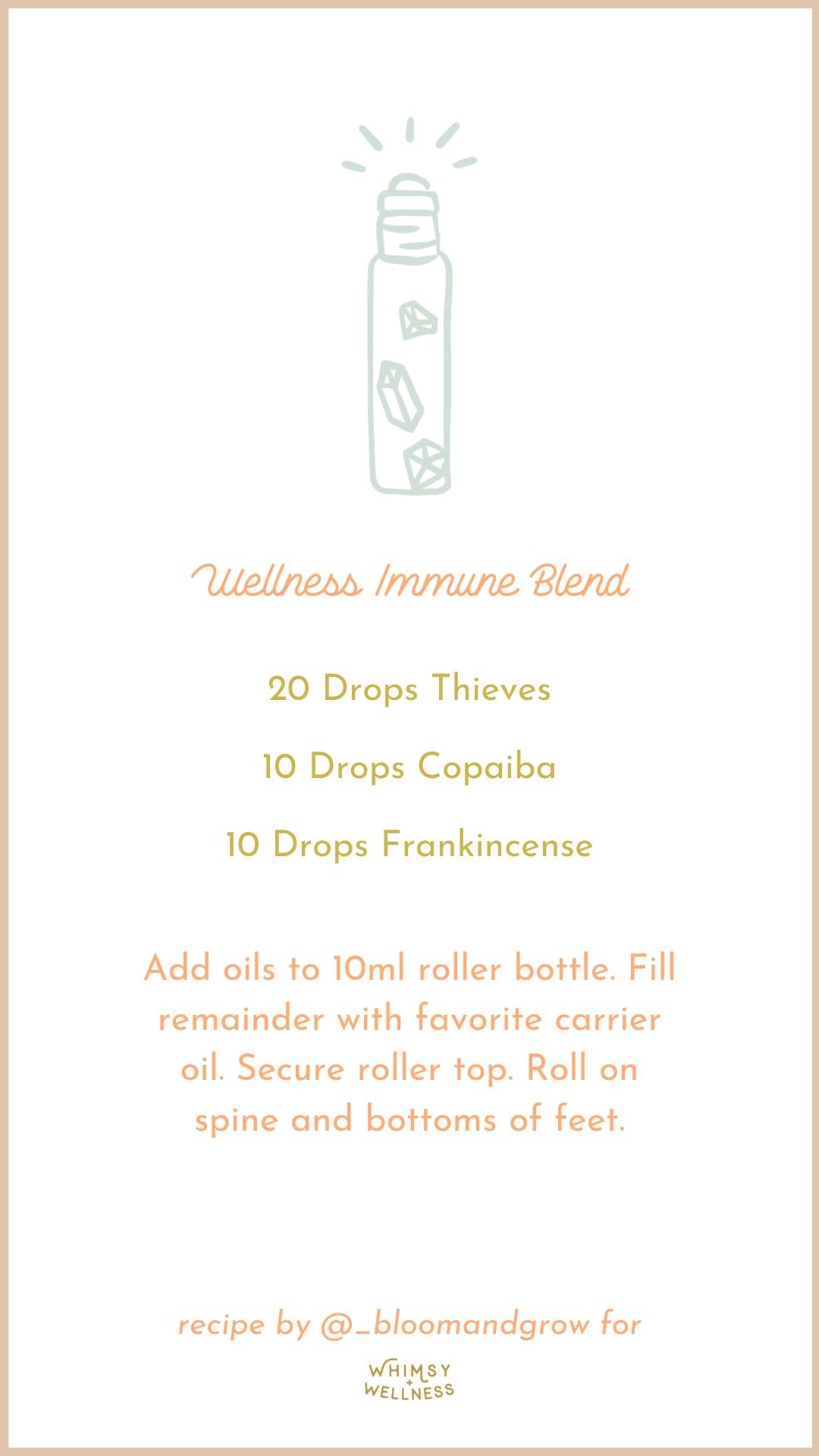 Wellness Roller Blend with Young Living Essential Oils for Immune Support