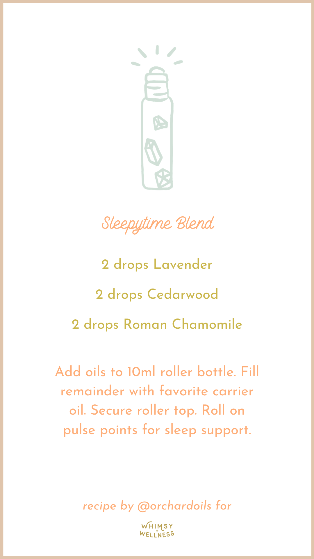 sleepytime roller bottle blend with essential oils and fairytale collection whimsy + wellness