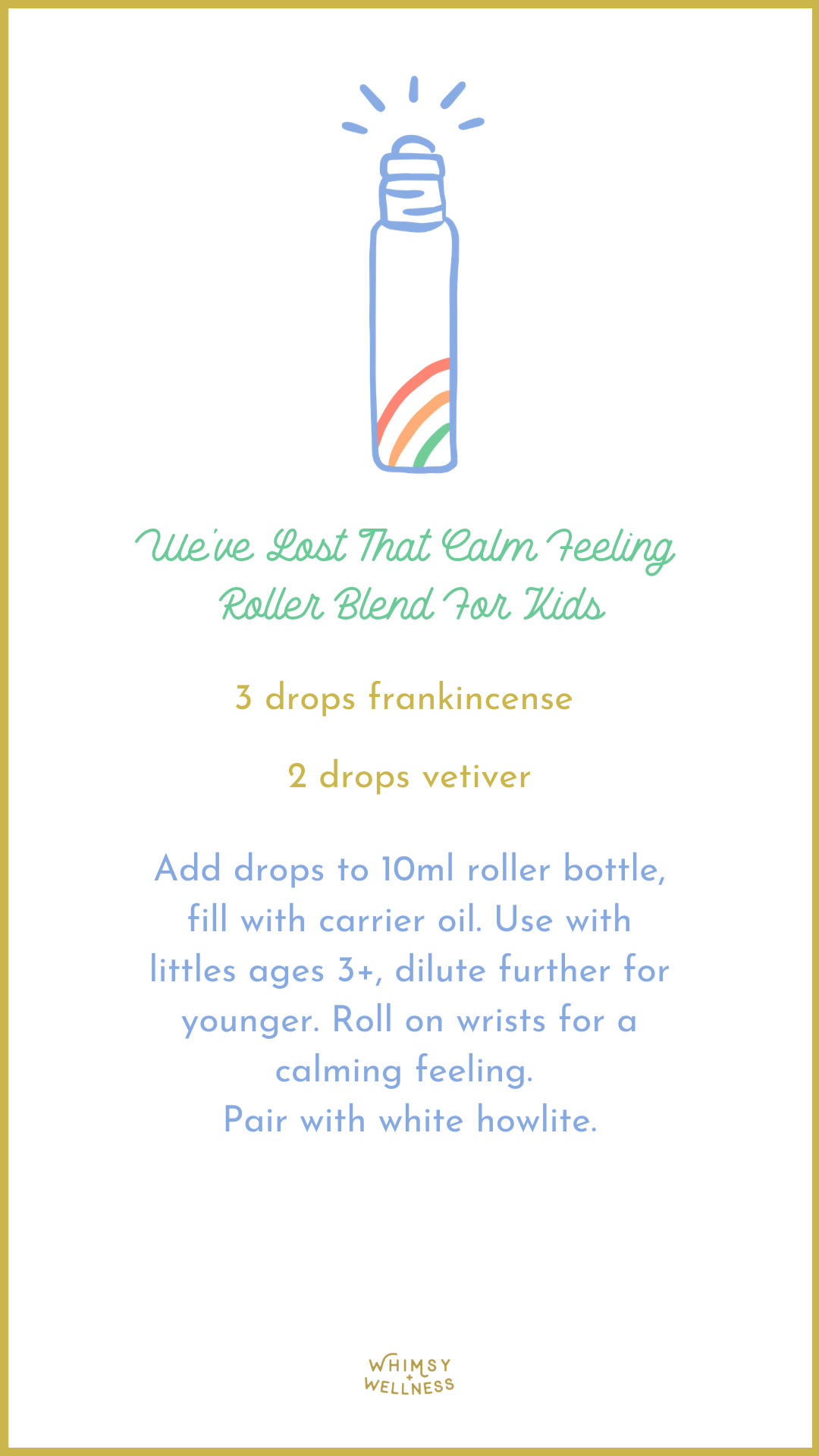 we've lost that calm feeling roller blend for kids to support a friend through a miscarriage