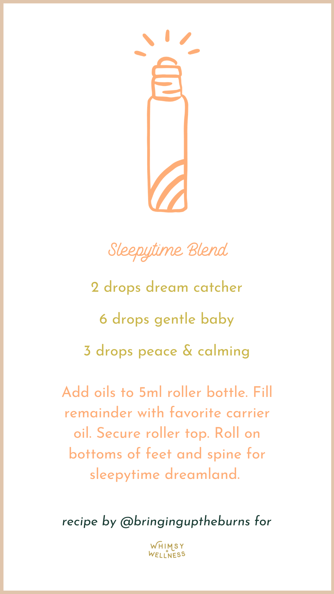Sleepytime Blend with essential oils by Elisha Burns For Whimsy + Wellness