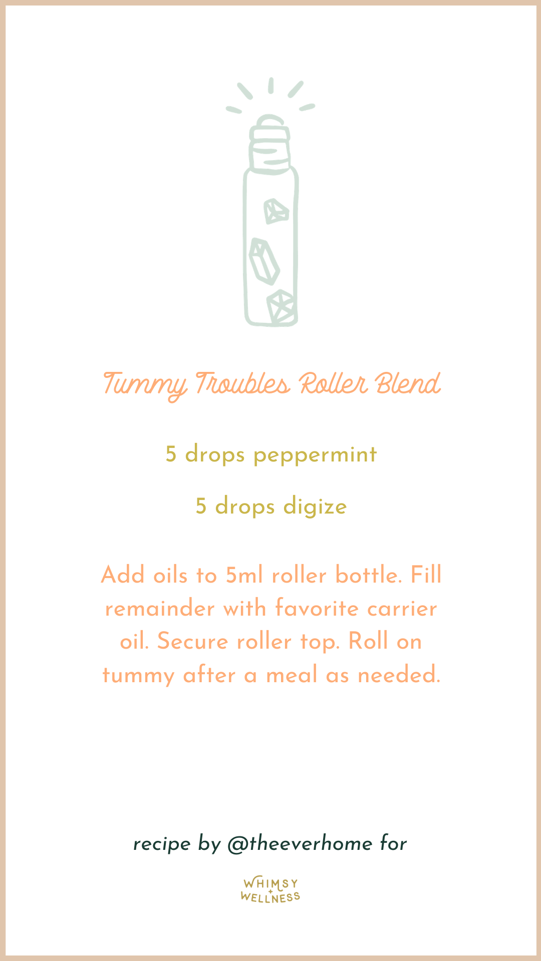 Tummy Troubles Roller Blend with young living essential oils Whimsy + Wellness