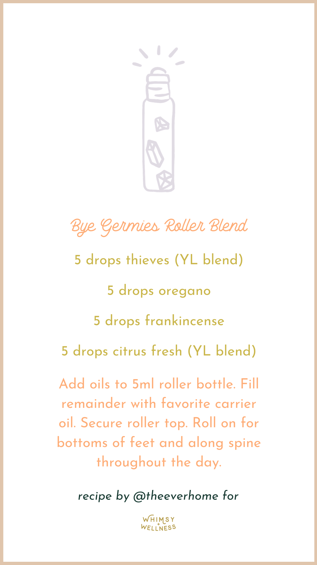 Bye Germies Roller Blend with Young Living Essential Oils