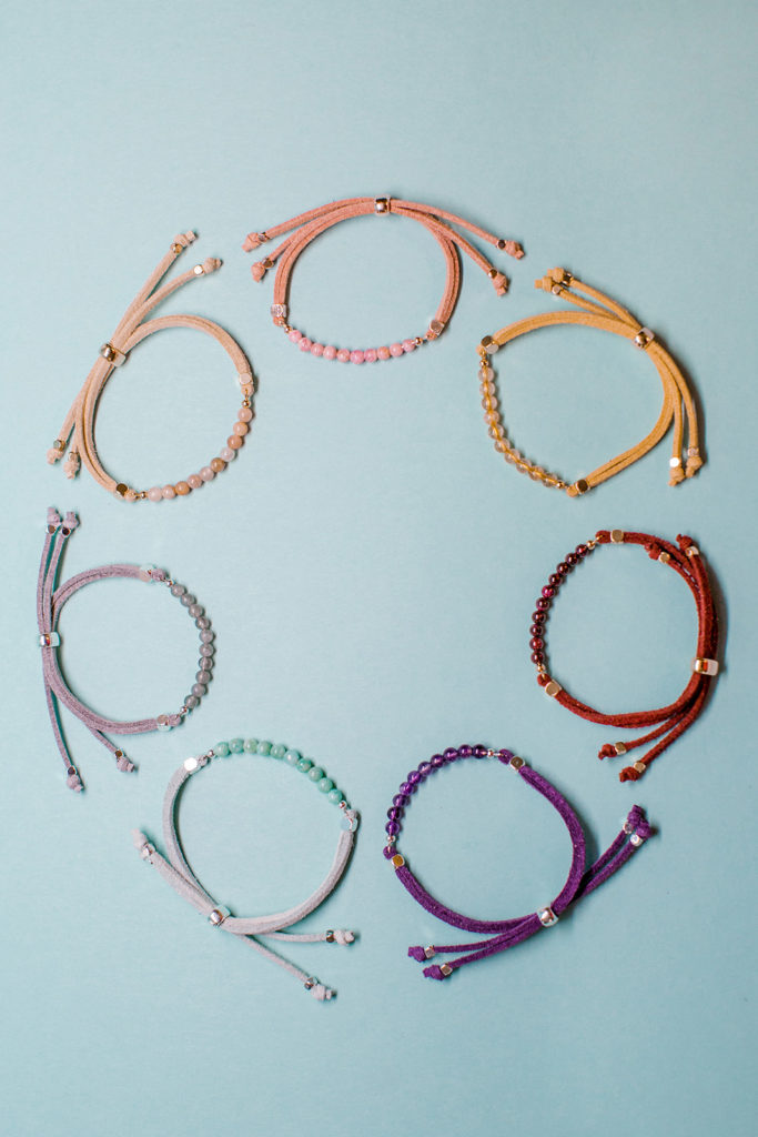 diffuse essential oils on these gemstone bracelets for healing