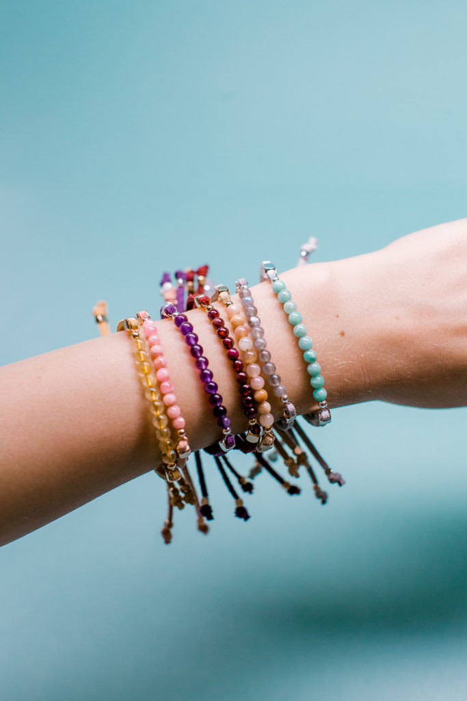healing gemstone bracelets to diffuse essential oils