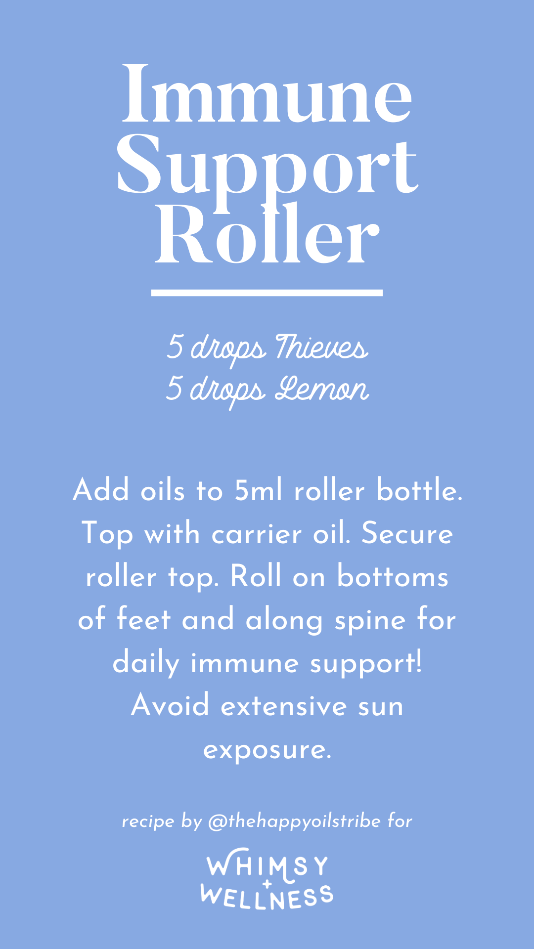 Immune support roller using Young Living essential oils