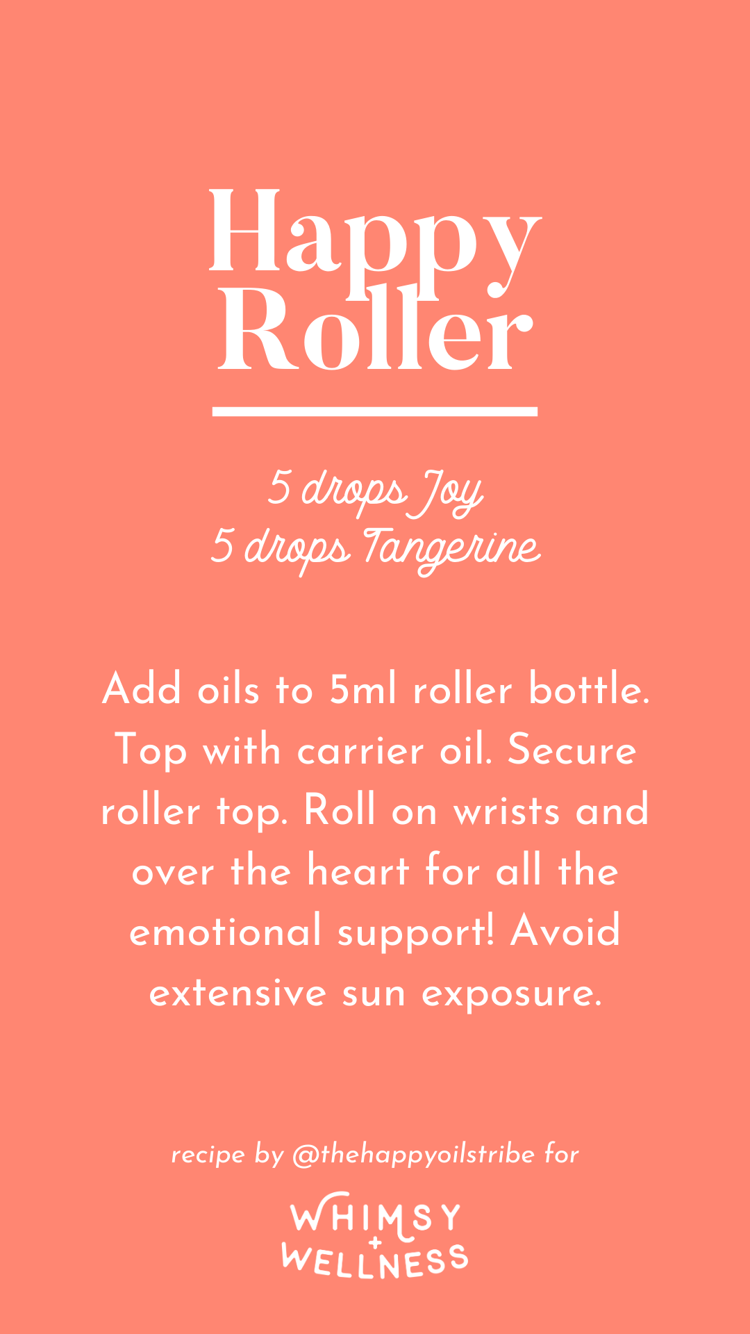 Happy roller using Young Living essential oils