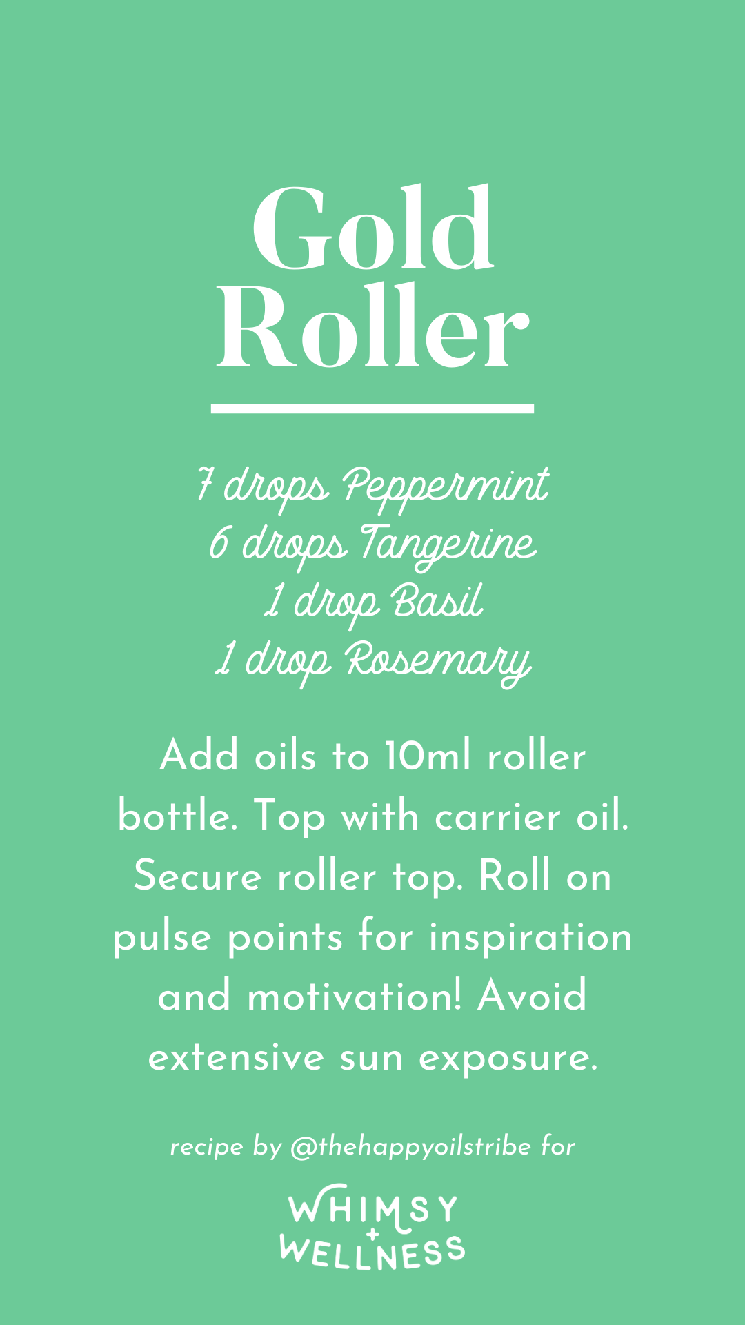 Gold rank roller using Young Living essential oils