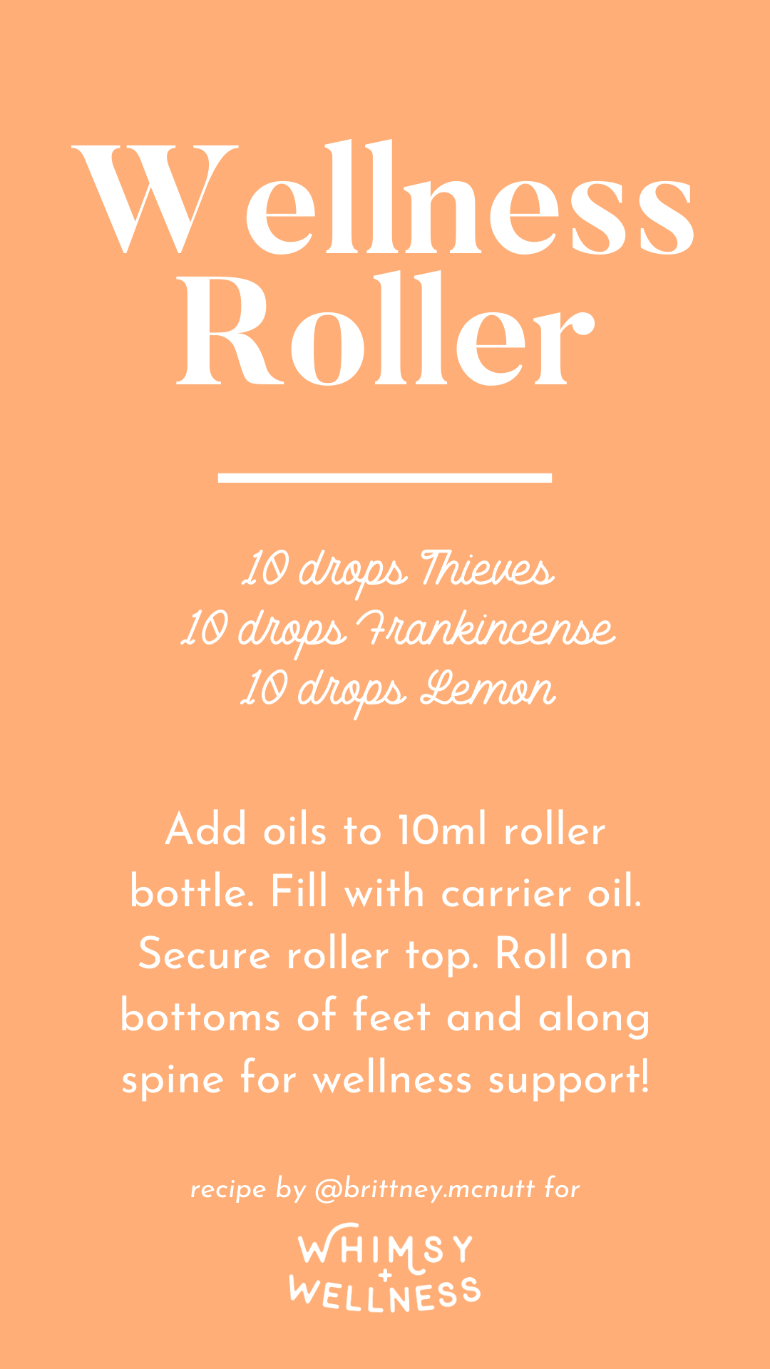 Wellness roller recipe blend using Young Living essential oils