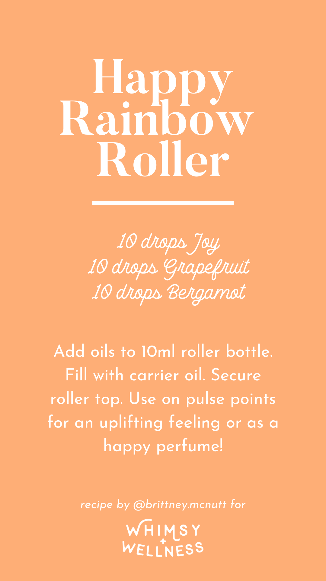 Happy rainbow roller recipe blend using Young Living essential oils