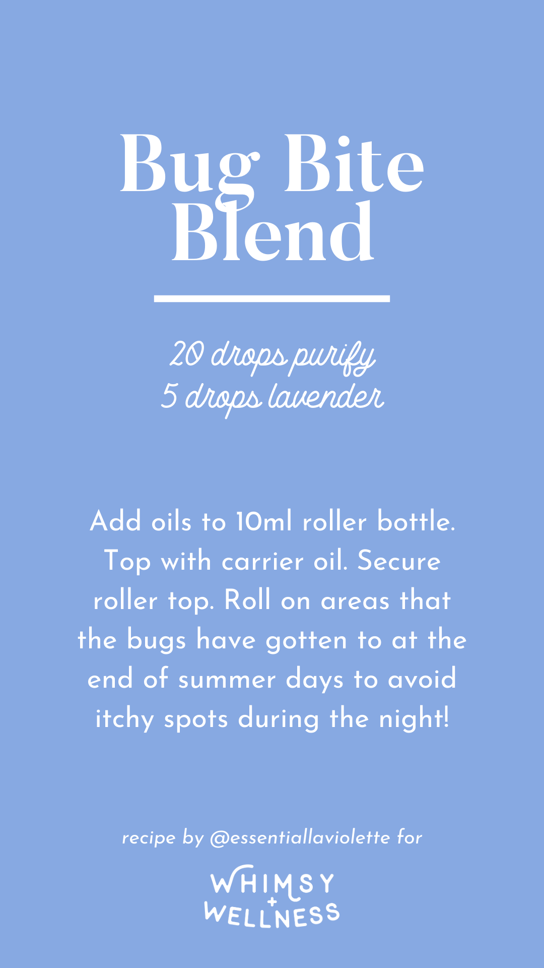 Summertime bug bite roller bottle recipe using doTERRA essential oils