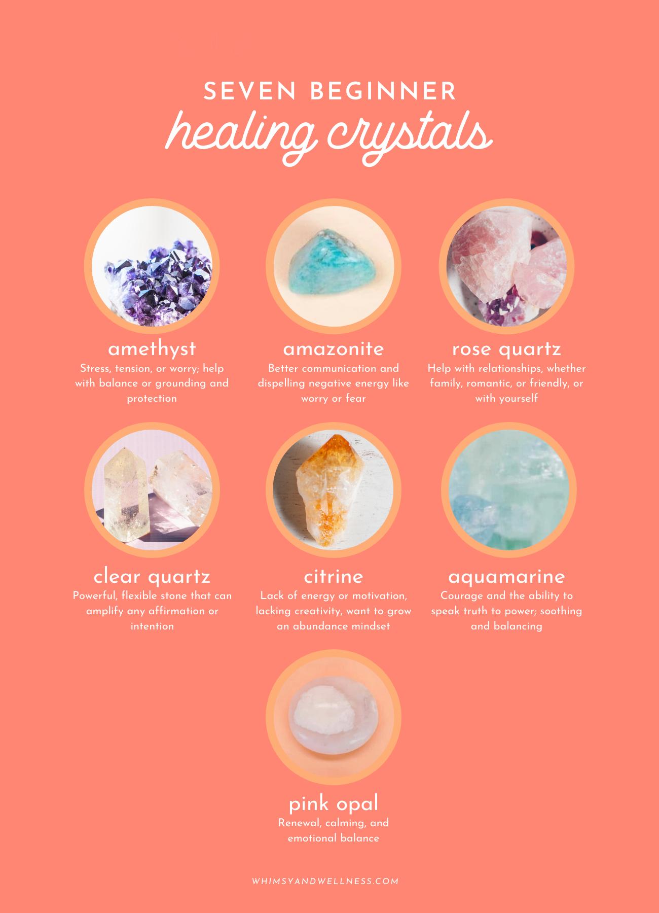 seven beginner healing crystals