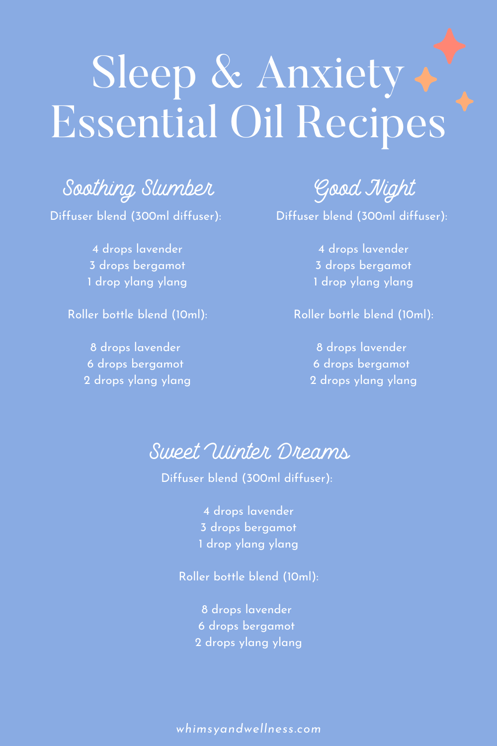 Sleep and Anxiety Essential Oil Recipes
