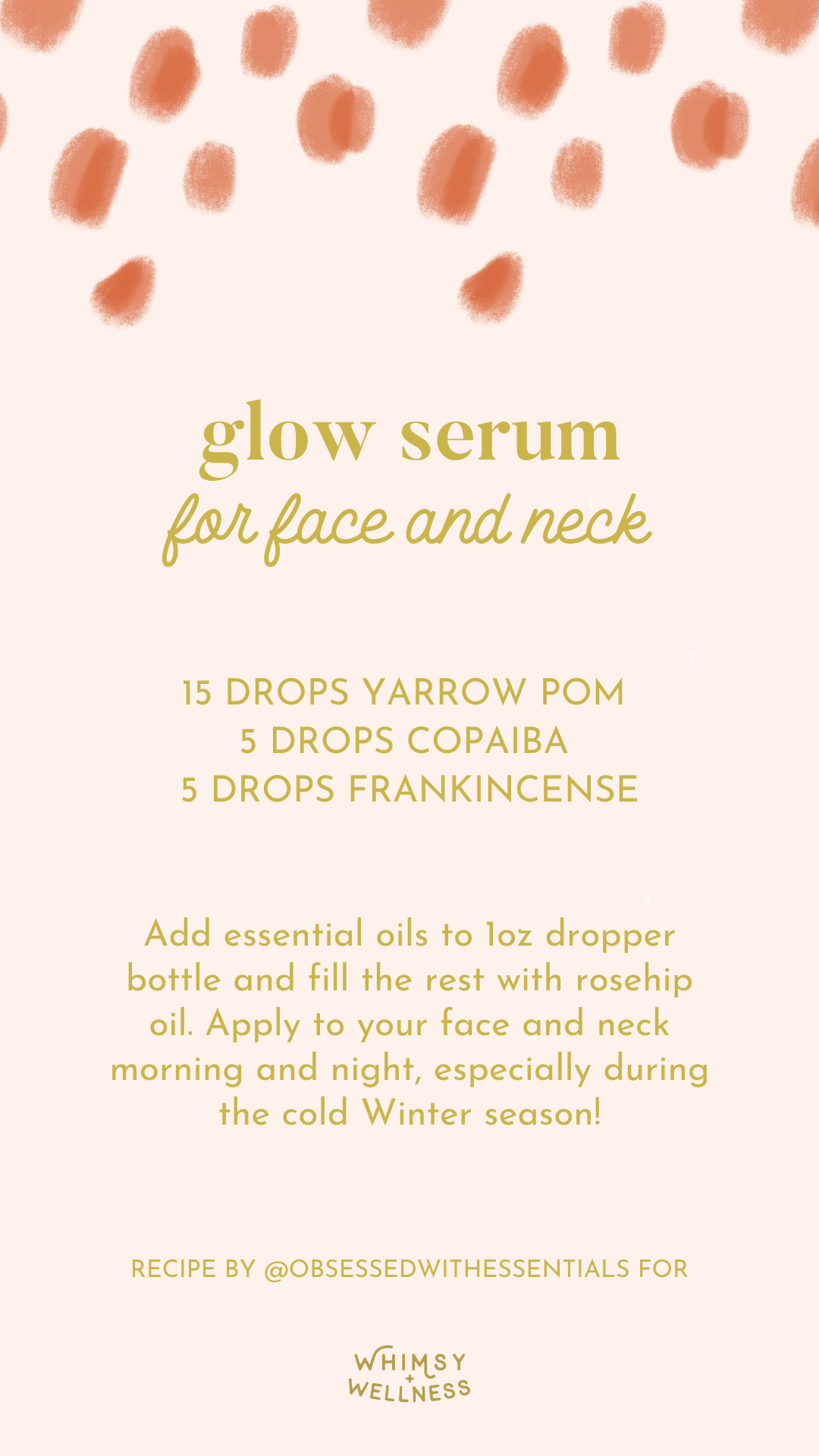 Melody Brandon shares a glow serum for face and neck blend using doTERRA essential oils with Whimsy + Wellness products.