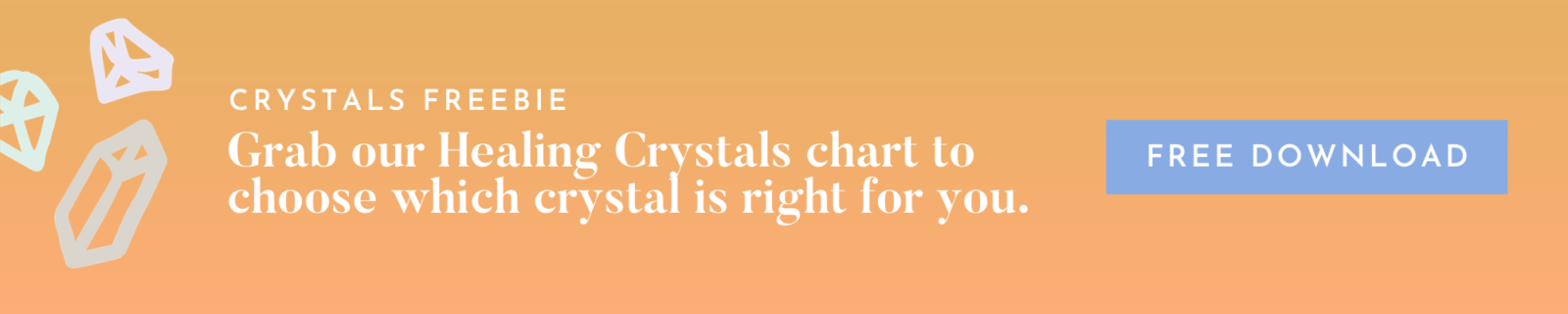 Healing Crystals Chart - Free Download