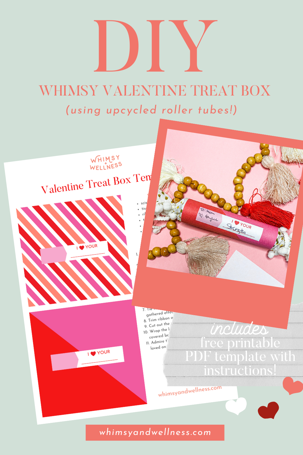 DIY Upcycled Valentine Treat Box