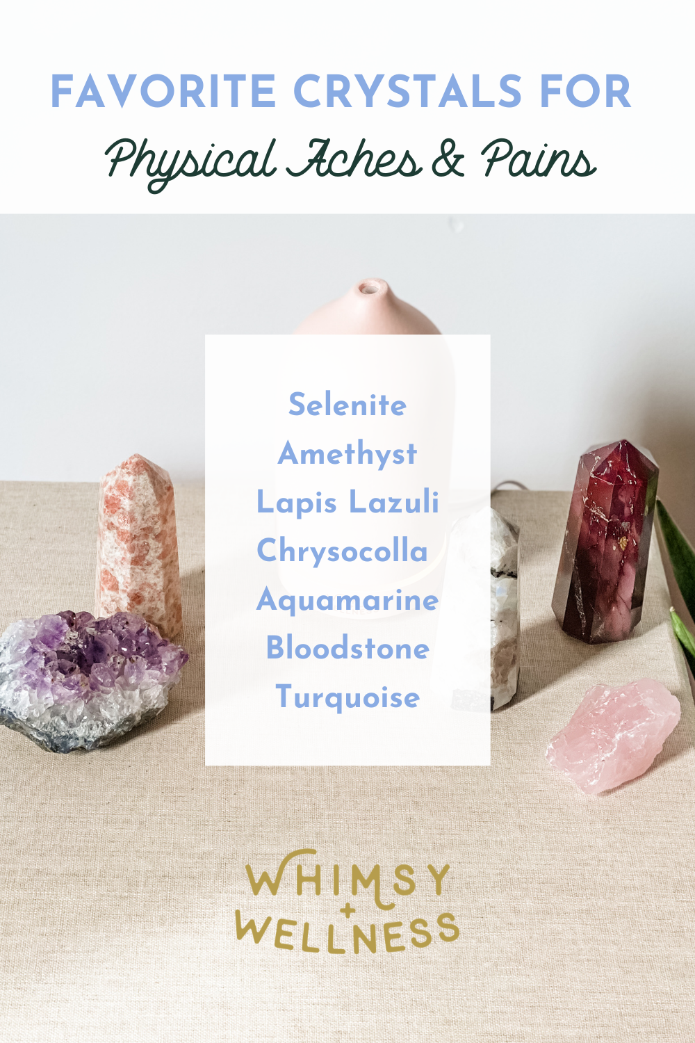 Crystals for pain