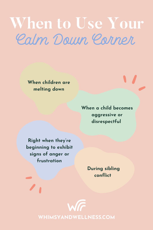 When to use Calm Down Corner