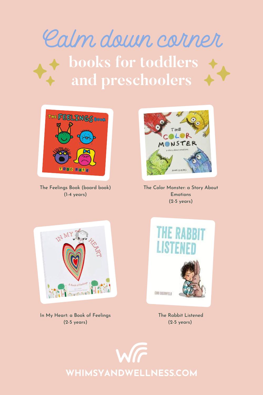 Calm Down Corner Toddler books