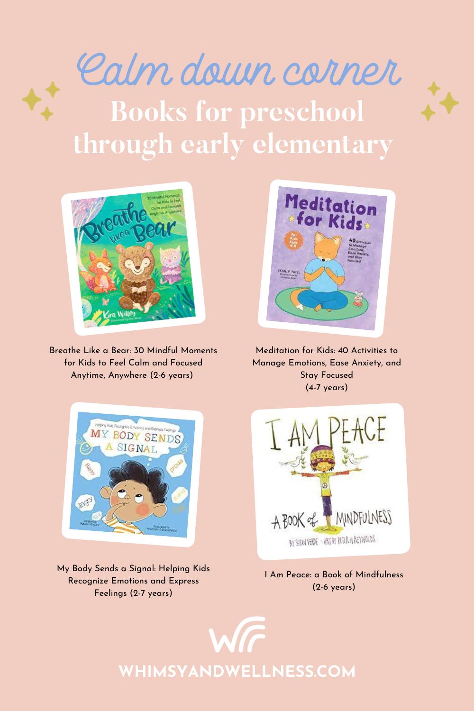 Calm Down Corner Preschool books