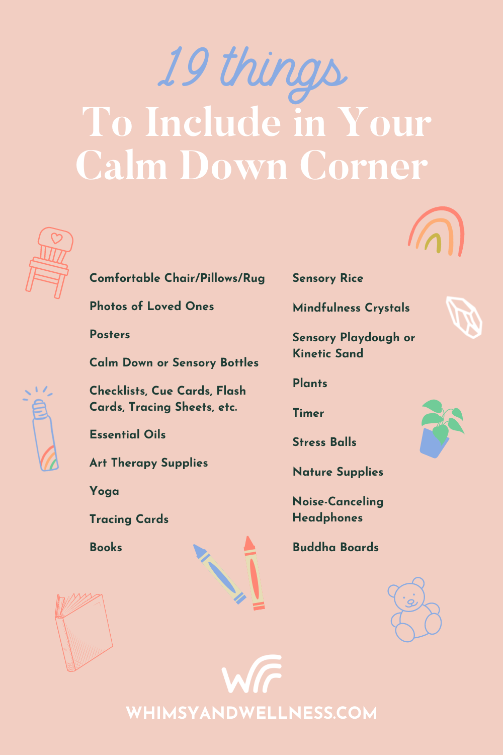 19 Things for Calm Down Corner